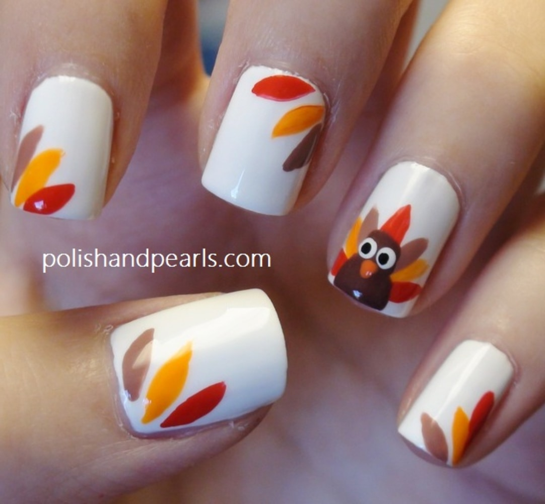 Image: Thanksgiving nail art - Dress Up Your Hands For Thanksgiving With 13 Fun Fall Nail Art