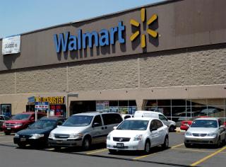 Image: View of a facade of Walmart supermarket