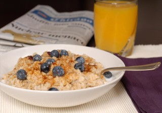American workers fuel up on oatmeal during the week.
