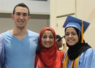 Deah Barakat, Yusor Abu-Salha, Razan Abu-Salha posted on Barakat's Facebook page on June 12, 2013.