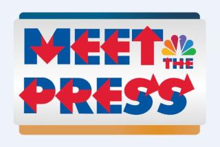 Meet the Press logo using Hillary Bold