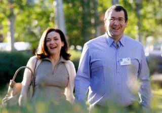 Image: Sheryl Sandberg, COO of Facebook, with her husband David Goldberg, CEO of SurveyMonkey.