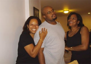 Jermaine McBean with two of his aunts