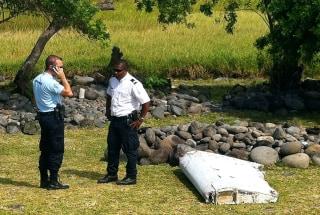 Image: Debris founds on Reunion Island on Wednesday