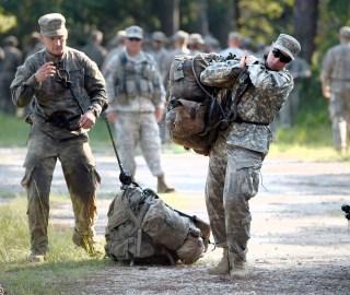 Image: Female Army Ranger student during training Aug. 4