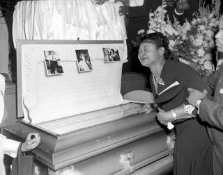 Image: Mamie Till Mobley weeps at Emmett Till's funeral