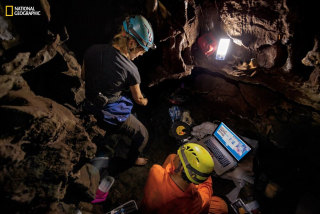 IMAGE: Scientist-cavers excavate Homo naledi fossils in South Africa