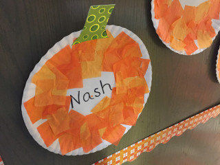 Image: Nash Lucas' name appears in a pumpkin