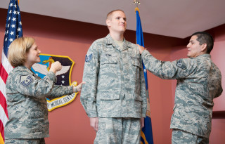 Image: Spencer Stone is promoted at Travis Air Force Base
