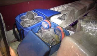 IMAGE: Contraband caviar found in Russian hearse