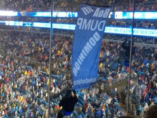 IMAGE: Anti-fracking protest at NFL game