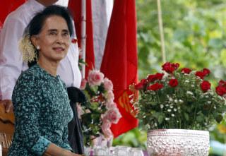 Image: Myanmar opposition leader Aung San Suu Kyi