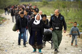 Image: Migrants in Macedonia