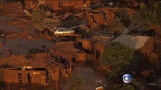 Image: Damage from the dam burst.