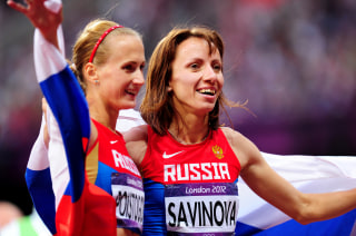 Image: Ekaterina Poistogova and Mariya Savinova