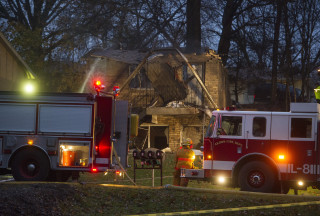 Image: Scene of Akron, Ohio, plane crash