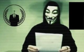 Image: Man wearing Anonymous mask