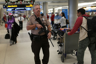 Image: Security At U.S. Airports Heightened Ahead Of Thanksgiving Holiday