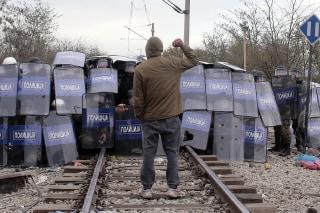 Image: Migrants Clash With Macedonian Police At Greece-Macedonia Border