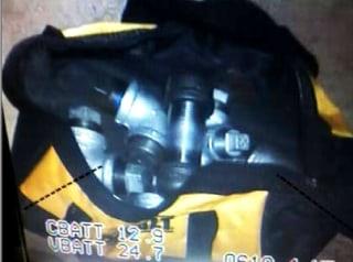 Image: San Bernardino suspects' pipe bombs inside their house