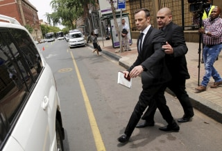 Image: Oscar Pistorius leaves the North Gauteng High Court in Pretoria, South Africa
