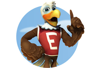 Illustration: NRA's Eddie Eagle, who teaches gun safety to children.