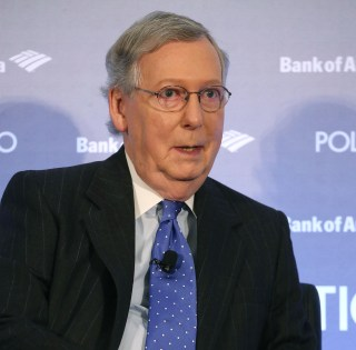 Image: Senate Majority Leader Mitch McConnell And House Speaker Paul Ryan Speak At Politico Playbook Interview