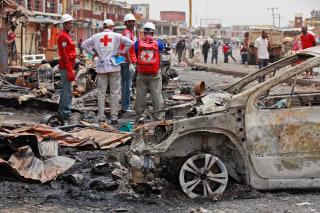 Image: Car bombing in Jos, Nigeria