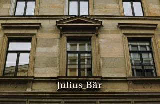 Logo of the Swiss private bank Julius Baer is seen at the company's headquarters in Zurich