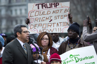 Image: Immigration protest at White House