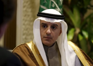 Image: Saudi Arabia's Foreign Minister Adel al-Jubeir attends an interview with Reuters, in Riyadh