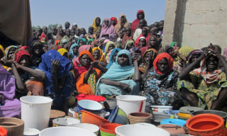 Image: WWomen at camp for internally displaced people in Borno, Nigeria, on December 27