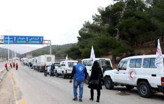 Image: Aid arrives in Madaya, Syria