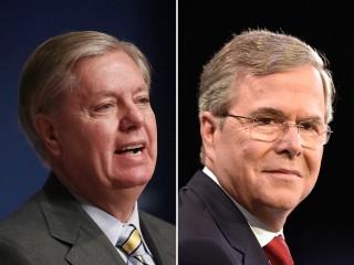 Image: Lindsey Graham, Jeb Bush