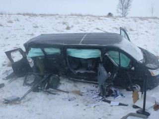 IMAGE: Ben Carson campaign van crash