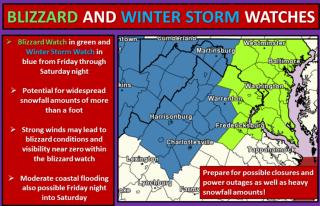 IMAGE: Washington-Baltimore snow forecast map