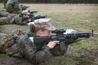 Image: Female Marines Participate In Marine Combat Training At Camp LeJeune