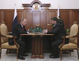 Image: Russian President Putin meets with Chechnya's leader Kadyrov at the Kremlin in Moscow