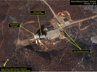 Image: Satellite images show increased activity at the North Korea launch site