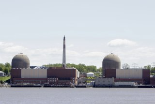 Image: The nuclear power plant at Indian Point is seen in Buchanan, N.Y.