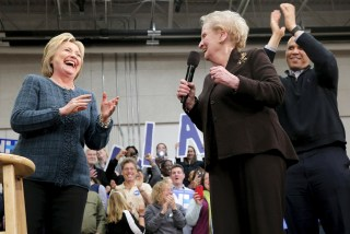 Image: Hillary Clinton and Madeline Albright