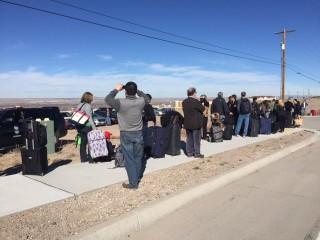 IMAGE: Travelers at the Albuquerque airport