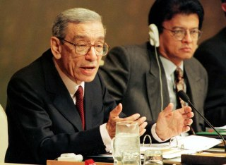 Image: File photo of U.N. Secretary General Boutros Boutros-Ghali at the United Nations in New York