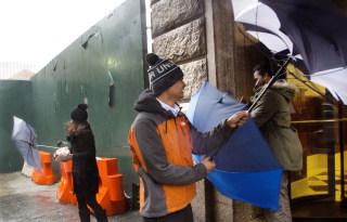 IMAGE: Rainy weather in New York