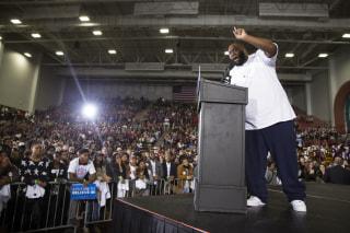 IMAGE: Killer Mike at Sanders rally