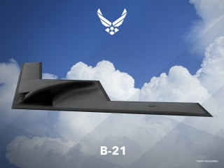 Image: An artist rendering shows the first image of a new Northrop Grumman Corp long-range bomber