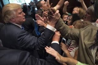 GOP presidential candidate Donald Trump campaigns in South Carolina.