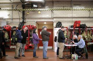 Image: Super Tuesday voters in Arlington, Virginia
