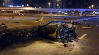 Image: Scene of Dubai crash