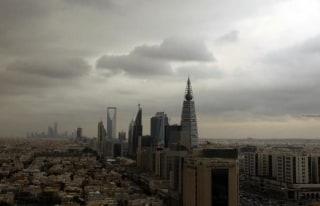 Clouds move over the Riyadh skyline